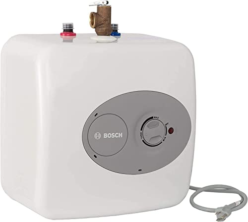 Bosch Electric Mini-Tank Water Heater Tronic 3000 T 4-Gallon (ES4) - Eliminate Time for Hot Water - Shelf, Wall or Fl...