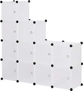 WOLTU SR0104tp DIY Armoire plastique chambre faite de modules avec porte pour le stockage de vêtements, accessoires, jouet...