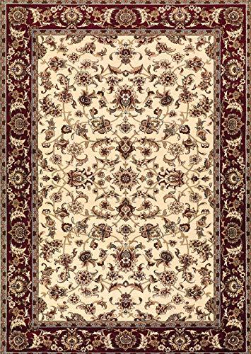 Arredo Carpet Scendiletto Tappeto Istanbul Crema con decori Autentici orientali di Alta Definizione nel Disegno e di qualità eccelsa 60x110