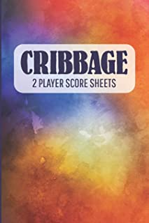 CRIBBAGE 2 Player Score Sheets: A Handy-Sized Scoring Book To Use On The Go