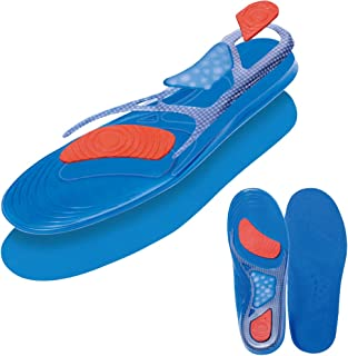 GEL Insoles Sport Running Inserts Shock Absorption Foot pain & Plantar Fasciitis Relief 1 Pair(Men's size 8-13, Blue)
