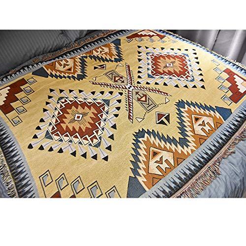 European-Style Modern Ethnic Tapestry Simple Soft Dust-Proof Non-Slip Sofa Towel Carpet Bedroom Living Room Sofa Picnic Bed And Breakfast Blanket