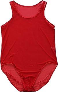 /érotique M-XL CHICTRY Homme Pyjama Homme Body Bodysuit D/ébardeur Maillots de Corps en Dentelle Transparent Gilet Homme de Sport Lingerie