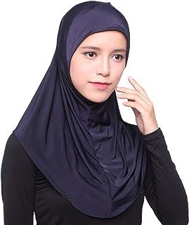 Muslim Hijab Women Fashion Solid/Ethnic Printed Cap Headscarf Full Cover Islamic Long Scarf Wrap Shawl Headwear