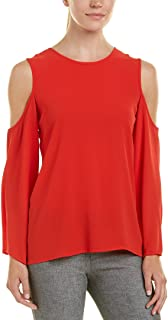 Vince Camuto Women's Long  Bell Sleeve Cold Shoulder Blouse