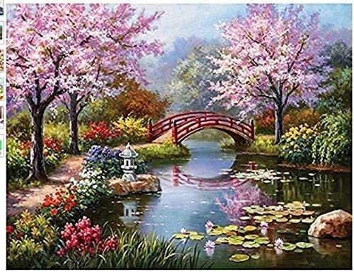 RONGFUQIANG Puzzle 1000 Piezas Puente de jardín 75x50cm Puzzle Rompecabezas para Adultos Niños, Juguete De Regalo Ideal