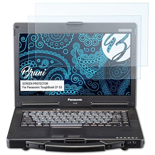 Bruni Schutzfolie kompatibel mit Panasonic ToughBook CF-53 Folie, glasklare Bildschirmschutzfolie (2X)