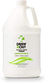 Draw It Out Liniment Spray Concentrate - Veterinary Strength - Odorless and Colorless - Pain Relief Topical Analgesic Horse Cream for Joint and Muscle Pain - Spray Wrap Soak - Natural Mineral - 128 oz