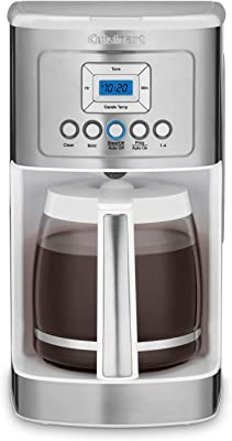 Cuisinart DCC-3200 14C Glass Carafe Programmable Coffeemaker with Natural Brown Coffee Filters No. 4 (200 Count) and Demi Spoon Bundle (4 Items)