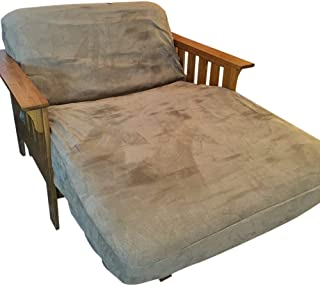 OctoRose Twin Size Zipper Bonded Classic Soft Micro Suede Futon Covers (Peat)