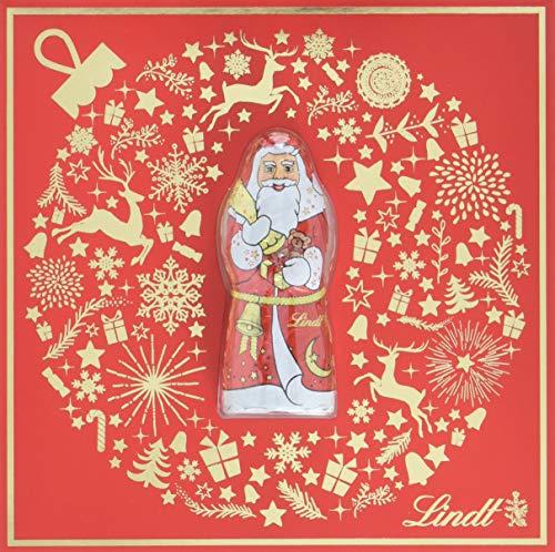Lindt Grußkarte Golden Xmas mit Mini Santa, 10er Pack (10 x 10 g)