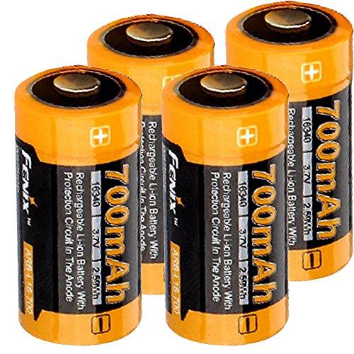 AccuCell Wiederaufladbarer Arlo-Akku, 3.7 V max. 760mAh Lithium Arlo Batterien Box, wiederaufladbar, passend für Netgear Arlo-Kamera VMC3030, 3230, 3330, 3430 4 Stück