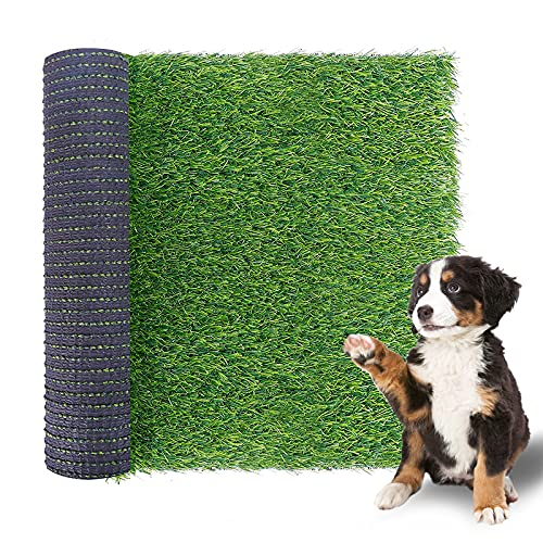 TAOAT 23.6 x 19.7 Inches Artificial Grass for Dog Fake Grass Rug for Puppy Potty Training Realistic Artificial Turf for Indoor-Outdoor Decoration with Anti-Slip Rubber Pad