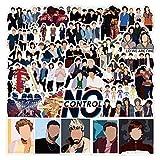 FNQ Paquete de 50 Uds, Pegatina de Cantante británica One Direction 1D para Maleta, Guitarra, portátil, Pegatina, Estilo de Motocicleta, Pegatinas geniales