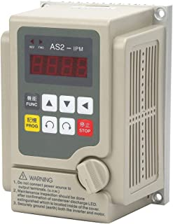 Single Phase VFD Drive VFD Inverter Variable Frequency Drive PWM VFD Controller 0.75KW AC 220V 5A for 3-Phase Spindle Motor(VFD-0.75KW)