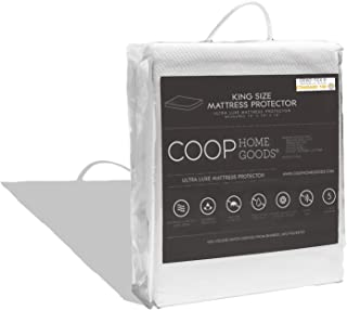 COOP HOME GOODS - Mattress Protector - Waterproof and Hypoallergenic - Soft and Noiseless Lulltra Fabric from Bamboo Derived Rayon - Protection Against fluids - Oeko-TEX Certified - King