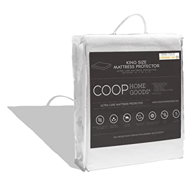 COOP HOME GOODS – Mattress Protector – Soft and Noiseless - Waterproof and Hypoallergenic - Protect Your Mattress Against Fluids/Spills/Mites/Bed Bugs - Oeko-TEX Certified Lulltra® Fabric - King