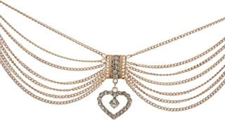 Trendy Fashion Jewelry TFJ Women Western Boot Gold Chains Metal Bling Bracelet Anklet Shoe Love Charm Heart
