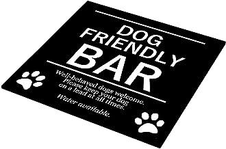 Elegante y audaz barra para perros, ideal para pubs, hoteles, interiores y exteriores, con agujeros para taladros
