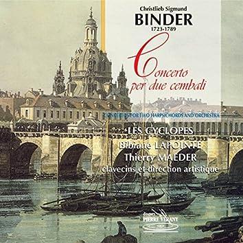 Binder : Concerto per due cembali