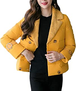 fanmeili-AU Womens Winter Warm Outwear Double-Breasted Jacket Thicken Parka Quilted Jacket