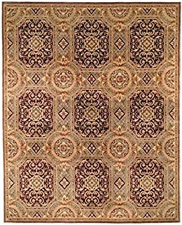 Safavieh Handmade Couture Florence Royalty Beige/Purple Wool Area Rug (China) - Multi - 4' x 6'