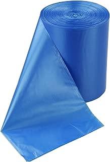 HOMMP 18 Gallon Large Kitchen Trash Bag, Blue Garbage Bag, 80 Counts