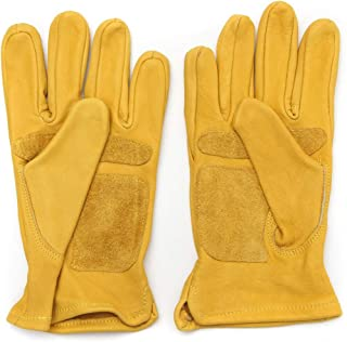 YUHUA-Guantes Leather Yellow Motorcycle Motorbike Multifunction Racing Gloves Motorcycle Gloves Work Gloves (Size : XL)