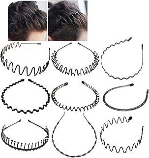 Xinlie® Cerchietto per Capelli in Metallo Fascia Metal Hair Hoop Black Spring Wave Hairband Metal Hair Band Hairband Wave ...