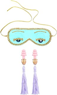 Audrey Style Sleep Eye Mask & Tassel Earplugs Set