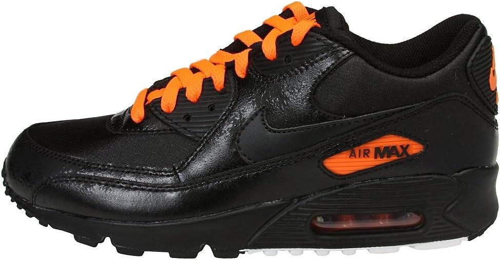 Amazon.com: NIKE Air Max 90 Premium Black Total Orange Size 9 ...