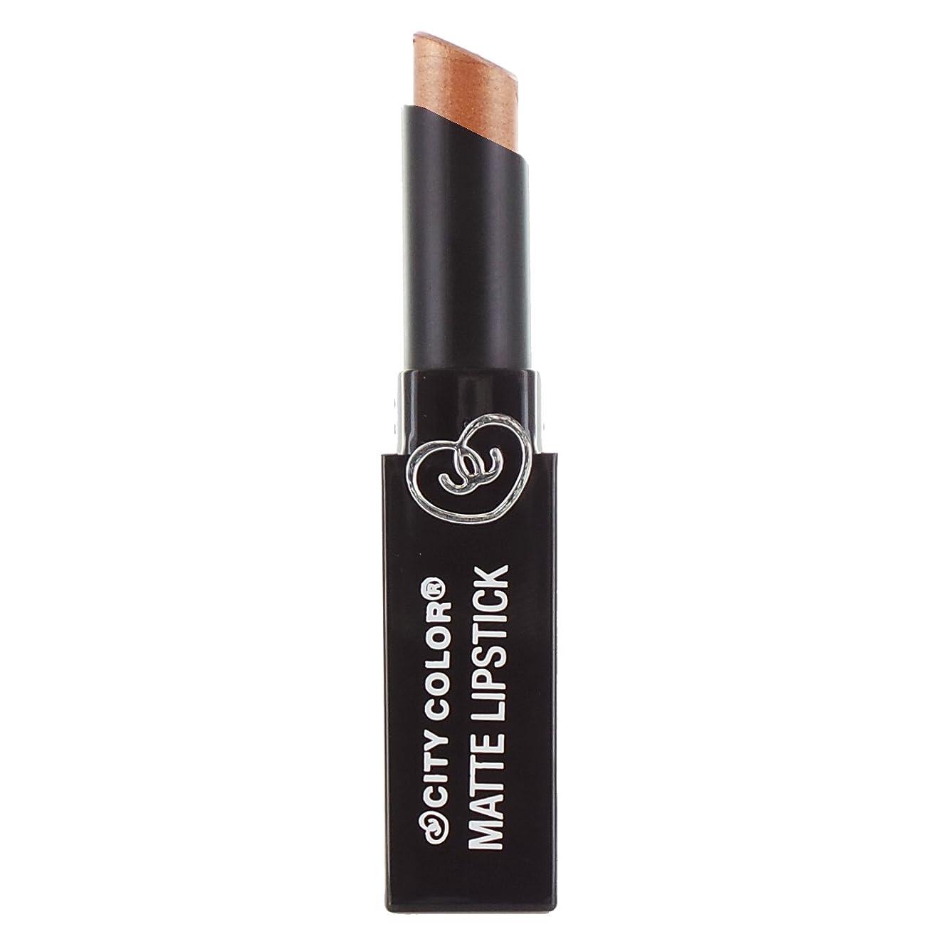 パワーセル掻くヒョウ(6 Pack) CITY COLOR Matte Lipstick L0050D - Pearl Bronze (並行輸入品)