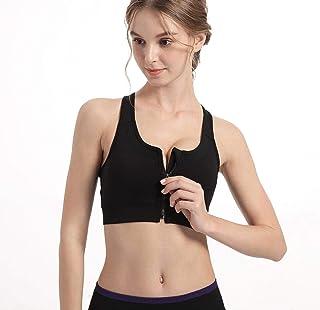 S-5XL Sports Top Yoga Bras with Zipper Shockproof Gym Shirt Mesh Back Sportswear Push Up Brassiere Large Sizing Sports Bra...