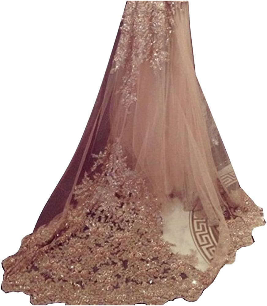 EllieHouse Women's Lace Chapel Max 51% OFF Wedding Veil With Bridal Popular shop is the lowest price challenge Com Free