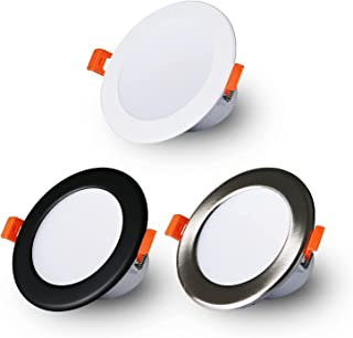 1 Pack 10W LED Downlight CCT Dimmable Recessed Ceiling Light 3000K/4000K/5000K Adjustable 90mm Cutout Round Spotlights
