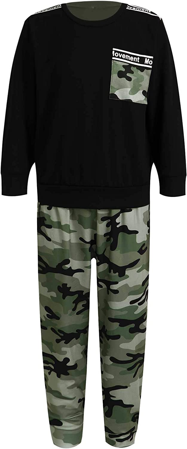 Freebily Unisex Boys Girls Cool Long Sleeve Camouflage Top Max 44% OFF Suits Spring new work one after another