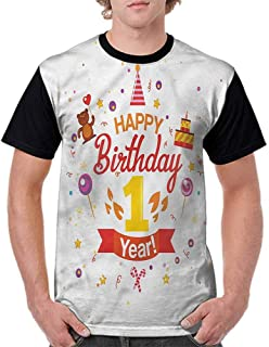 Printed T-Shirt,Party Cake for Baby Fashion Personality Customization
