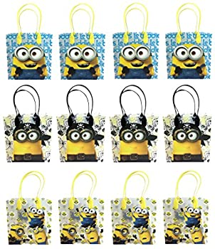 Universal Studios Minions 2015 Despicable Party Gift Bag  Set of 12