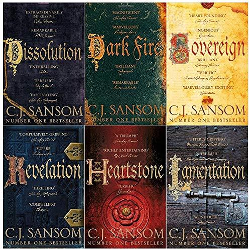 Shardlake series collection c. j. Sansom 6 books set (Dissolution, Dark Fire, Sovereign, Revelation, Heartstone, Lamentation)