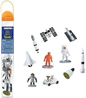 Safari Ltd Space TOOB With 10 Out Of-This-World Toy Figurines, Including 2 Astronauts, 1 Space Chimp, 6 Space Craft, And More! – For Ages 3 And Up