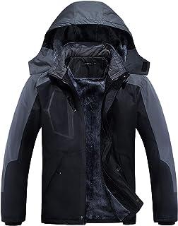 Mens Winter Coat, Waterproof Ski Jacket Winter Windproof Rain Jacket Warm Snow Coats