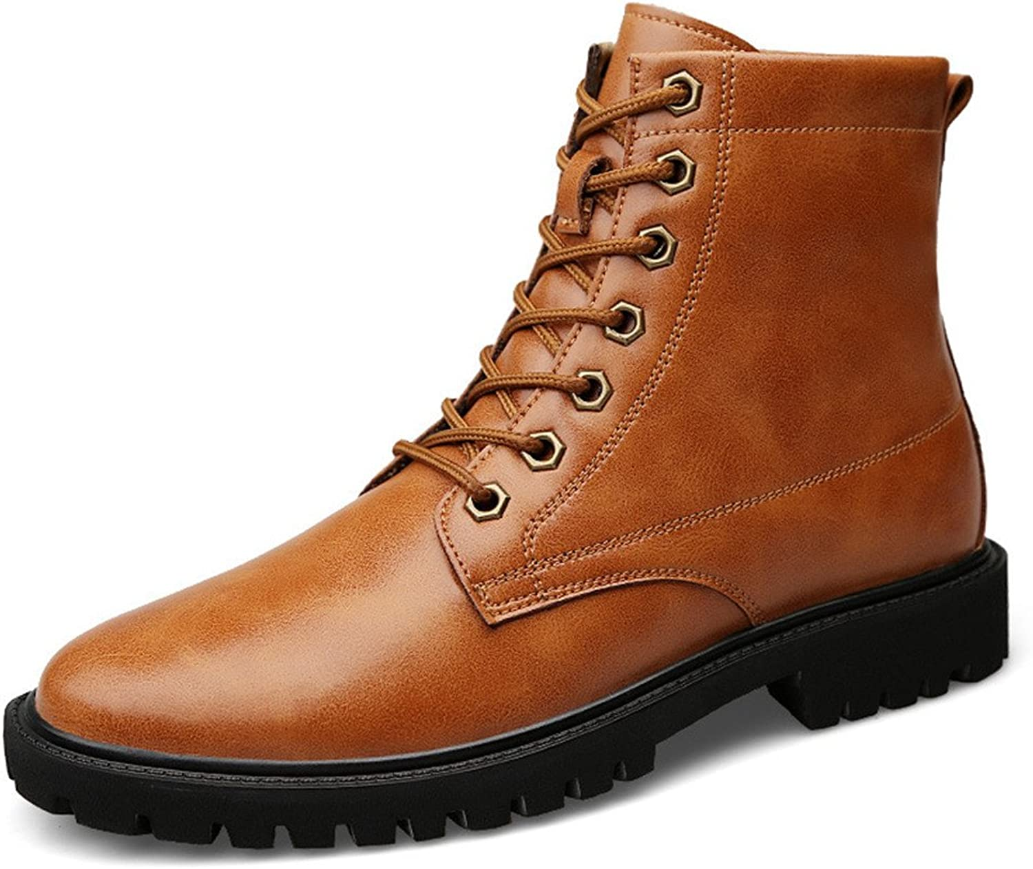 ZQ@QXAutumn and winter leather high help size outdoor leisure fashion men Ma Dingxue boots