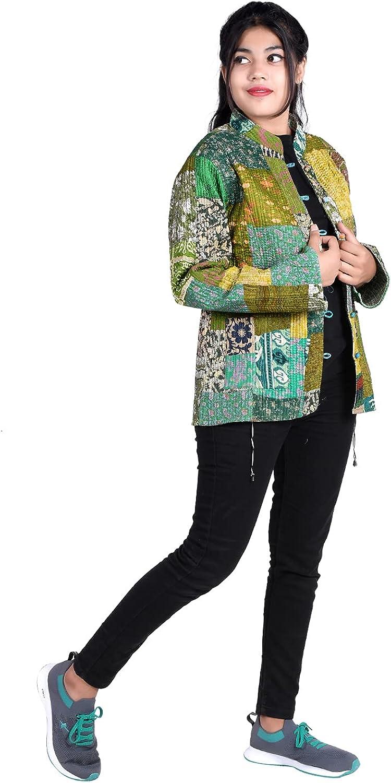 iinfinize Patchwork Waistcoat Pocket Vintage Cotton Blazer Outdoor Jacket Windbreakers Lightweight Jacket Active Hoodies Track Jacket Traditional Decorative Coat Size-XXL