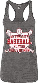 My Favorite Baseball Player Calls Me Mom Women`s Racerback Tank Top