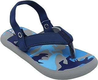 D'chica Bro Bus Themed Slider Slippers for Boys