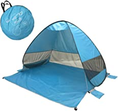 $49 » Beach Tent Beach Umbrella Outdoor Sun Shelter Canopy Cabana UPF 50+ Sun Shade Easy Set Up 3-4 Person, Lightweight and Easy to Carry Camping Fishing Hiking Shade Shelter Tent