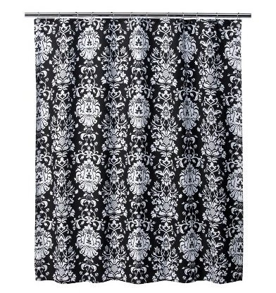 Damask shower curtains - Oh So Girly!