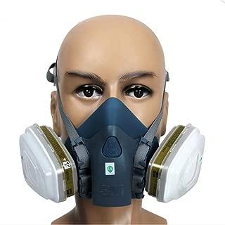3M 7502 Silicone Half Face Respirator Painting Spraying Face Gas Mask 7 Pcs Set Medium