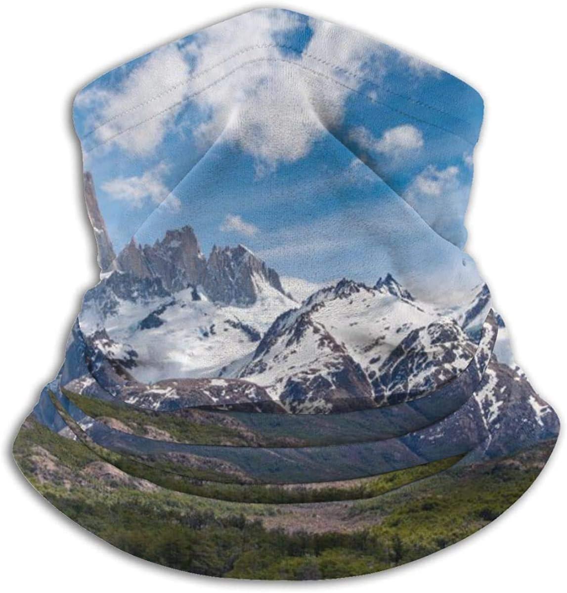 Lastbest Fitz Roy Mountain Neck Warmer Multifunction Scarf Hat Neck Gaiter Neck Cap Bala Windproof Neck Heating Wrap Outdoor Sports One Size
