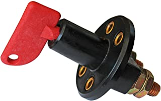 Interruttore di disconnessione per batteria a 2 fori ATV verricello auto con 2 chiavi per barca